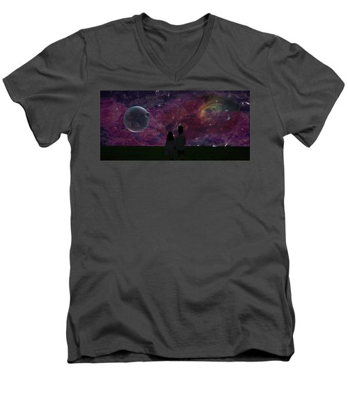 Never Alone Part 2 Men's V-Neck T-Shirt