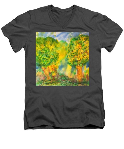 Men's V-Neck T-Shirt featuring the painting Never Give Up On Your Dreams by Susan D Moody