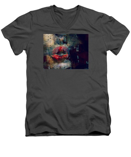 Never Had A Dream Come True  Men's V-Neck T-Shirt by Paul Lovering
