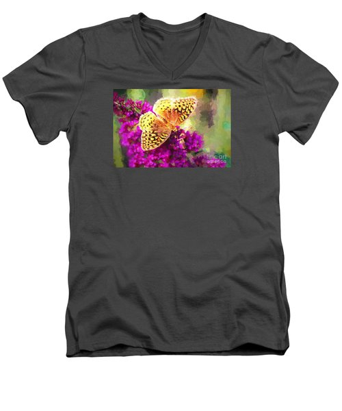 Never Hide Your Wings Men's V-Neck T-Shirt by Tina LeCour