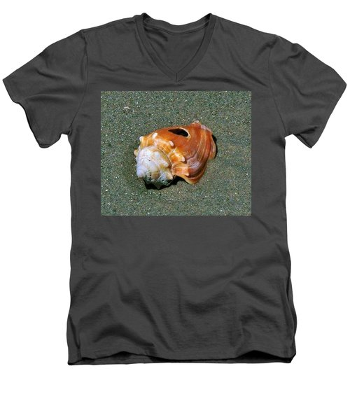 Men's V-Neck T-Shirt featuring the photograph Never Look To Close by John Glass