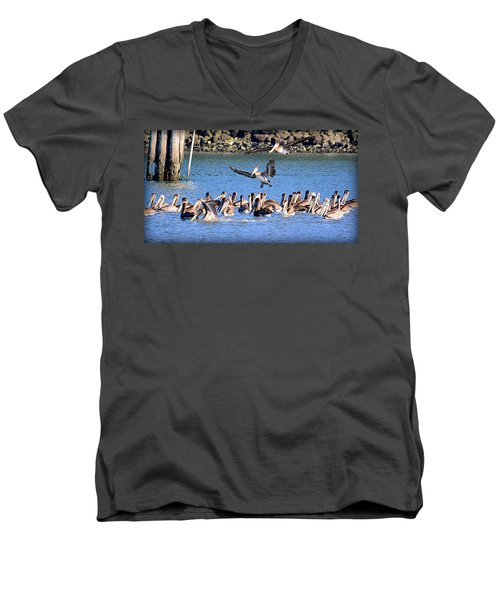 Men's V-Neck T-Shirt featuring the photograph New Arrivals by AJ Schibig
