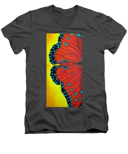 New Beginnings Men's V-Neck T-Shirt by Susan DeLain