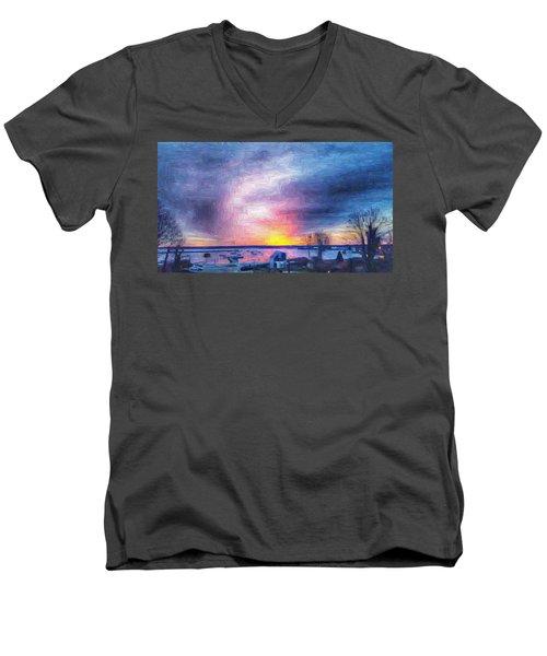 New Dawn Vineyard Haven Men's V-Neck T-Shirt
