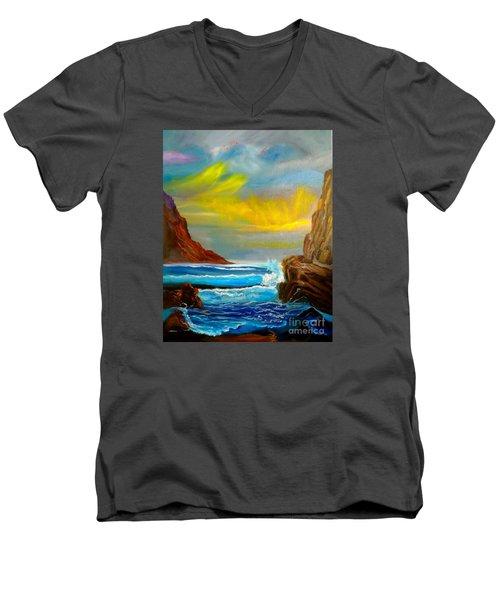 New Day In Paradise Men's V-Neck T-Shirt