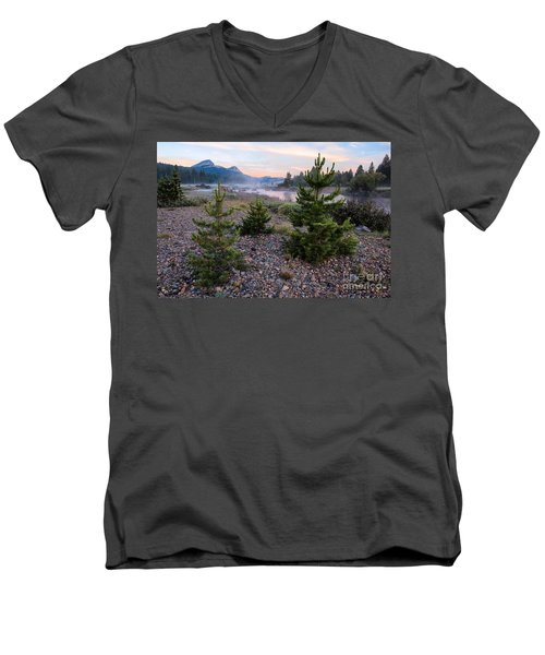 Men's V-Neck T-Shirt featuring the photograph New Day by Vincent Bonafede