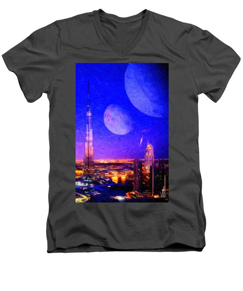 New Dubai On Tau Ceti E Men's V-Neck T-Shirt
