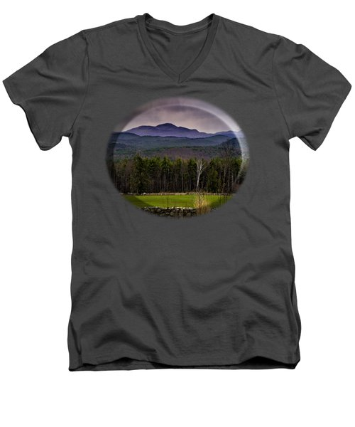 Men's V-Neck T-Shirt featuring the photograph New England Spring In Oil by Mark Myhaver