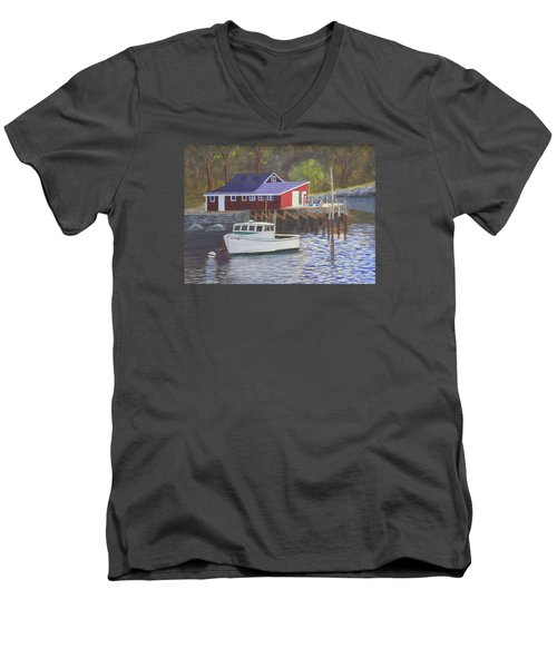 New Harbor Sunrise Men's V-Neck T-Shirt