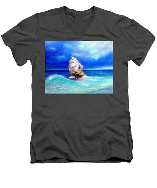New Horizons Men's V-Neck T-Shirt