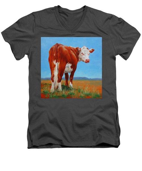 New Horizons Undecided Men's V-Neck T-Shirt by Margaret Stockdale