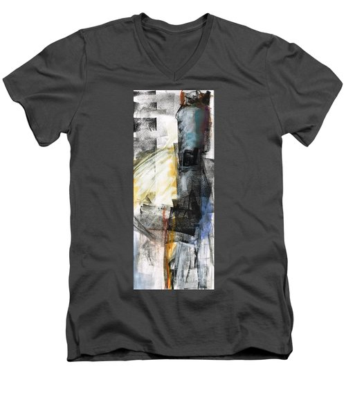 Men's V-Neck T-Shirt featuring the painting New Mexico Horse Art by Frances Marino