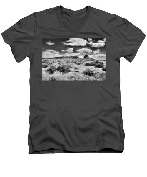 Men's V-Neck T-Shirt featuring the photograph New Mexico by Jim Walls PhotoArtist