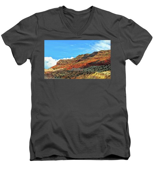 New Mexico Landscape Men's V-Neck T-Shirt by Gina Savage