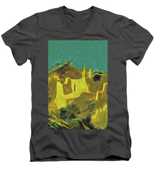 New Mexico Skyline Men's V-Neck T-Shirt