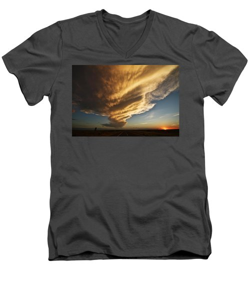New Mexico Structure Men's V-Neck T-Shirt