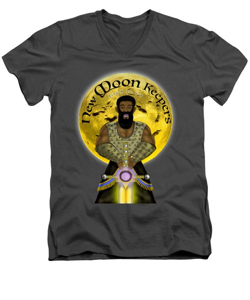New Moon Keepers Men's V-Neck T-Shirt
