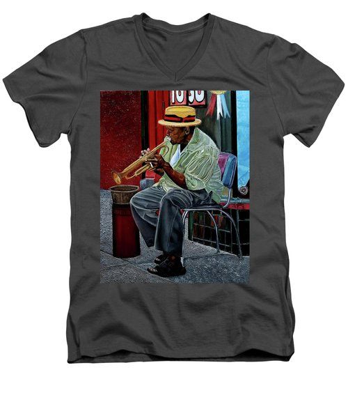Bourbon Street Blues Men's V-Neck T-Shirt