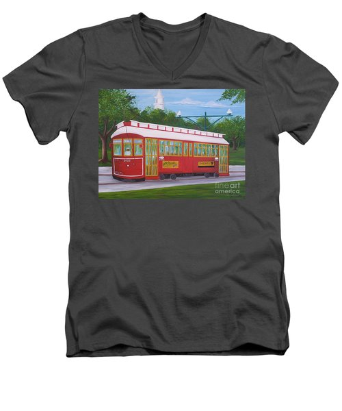 New Orleans Streetcar Men's V-Neck T-Shirt