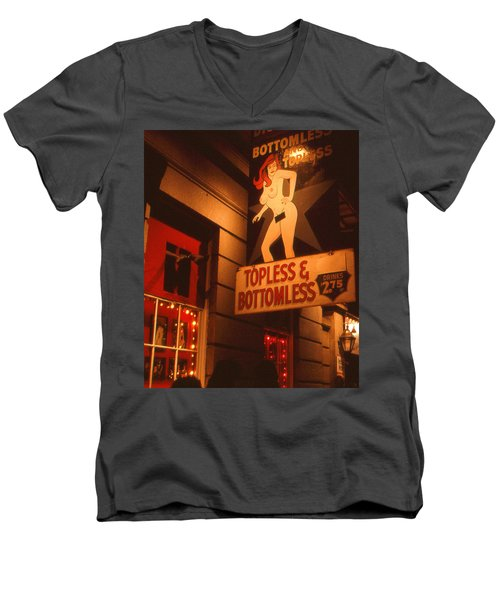 New Orleans Topless Bottomless Sexy Men's V-Neck T-Shirt