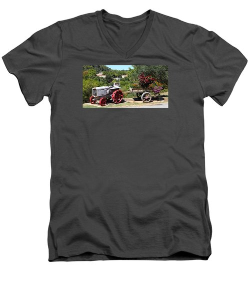 Men's V-Neck T-Shirt featuring the photograph New Pastures by Richard Patmore