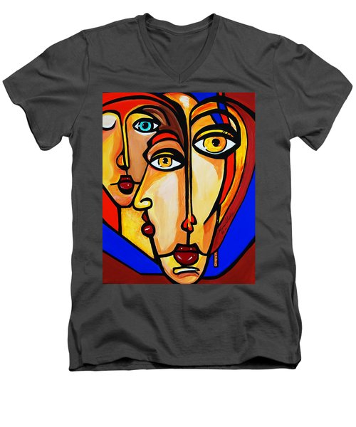 New Picasso By Nora Friends Men's V-Neck T-Shirt