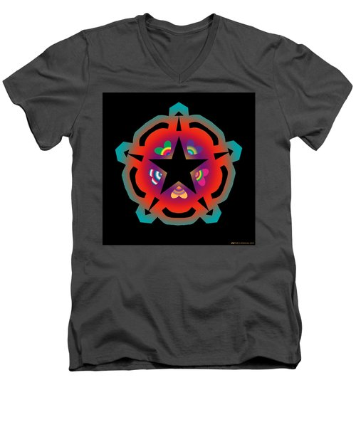 New Star 6 Men's V-Neck T-Shirt by Eric Edelman