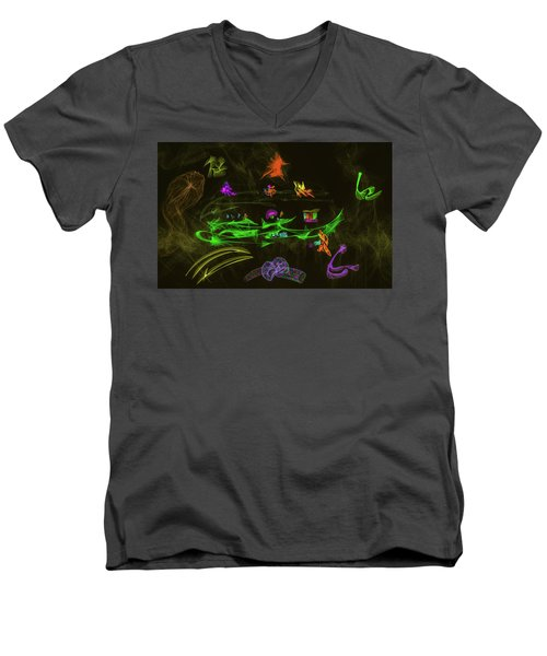 New Wold #g9 Men's V-Neck T-Shirt