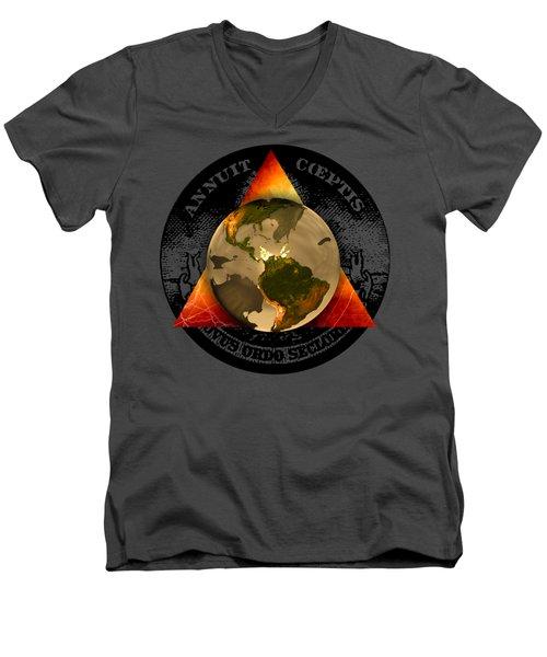 New World Order By Pierre Blanchard Men's V-Neck T-Shirt
