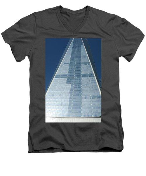 New World Trade Center Men's V-Neck T-Shirt