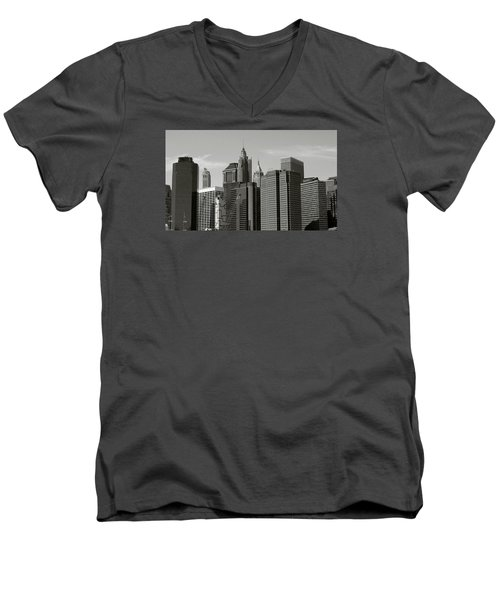 New York City Men's V-Neck T-Shirt by Helen Haw