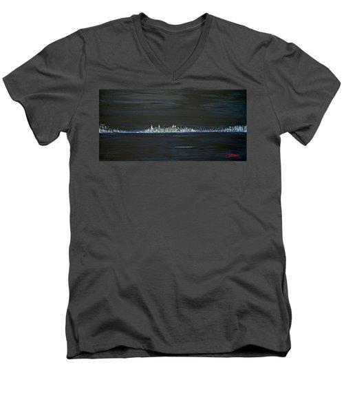 New York City Nights Men's V-Neck T-Shirt