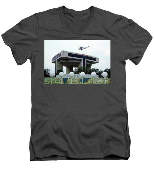 New York City Port Authority Helicopter Pad, New York World's Fa Men's V-Neck T-Shirt