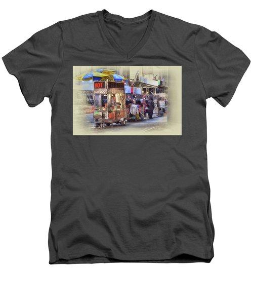 New York City Vendor Men's V-Neck T-Shirt by Dyle Warren