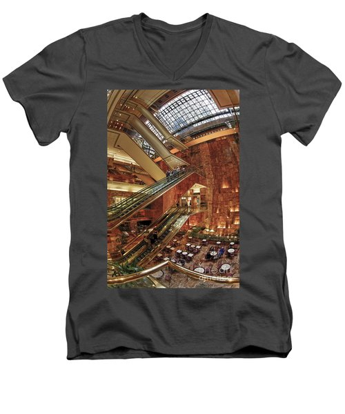 Men's V-Neck T-Shirt featuring the photograph New York Trump Tower  by Juergen Held