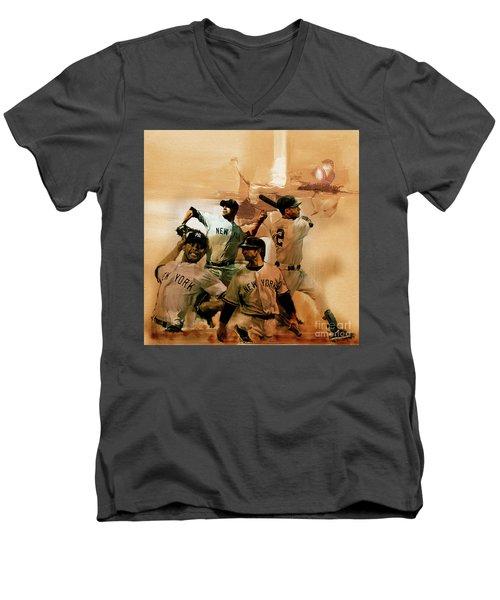 New York Yankees  Men's V-Neck T-Shirt by Gull G