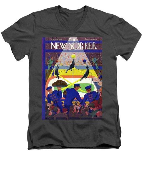 New Yorker April 19 1941 Men's V-Neck T-Shirt