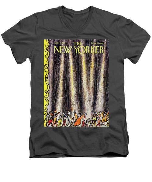 New Yorker April 4 1959 Men's V-Neck T-Shirt