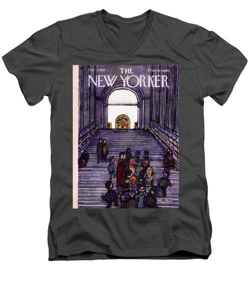 New Yorker December 3 1955 Men's V-Neck T-Shirt