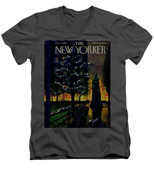 New Yorker December 5 1959 Men's V-Neck T-Shirt