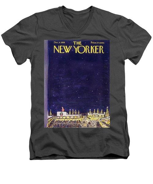 New Yorker December 6 1958 Men's V-Neck T-Shirt