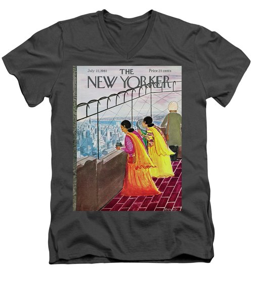 New Yorker July 22 1961 Men's V-Neck T-Shirt