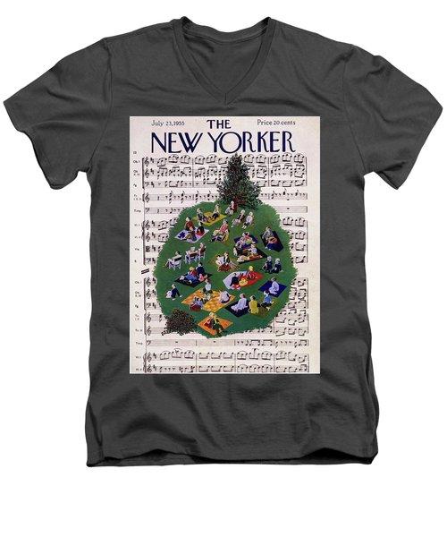 New Yorker July 23 1955 Men's V-Neck T-Shirt