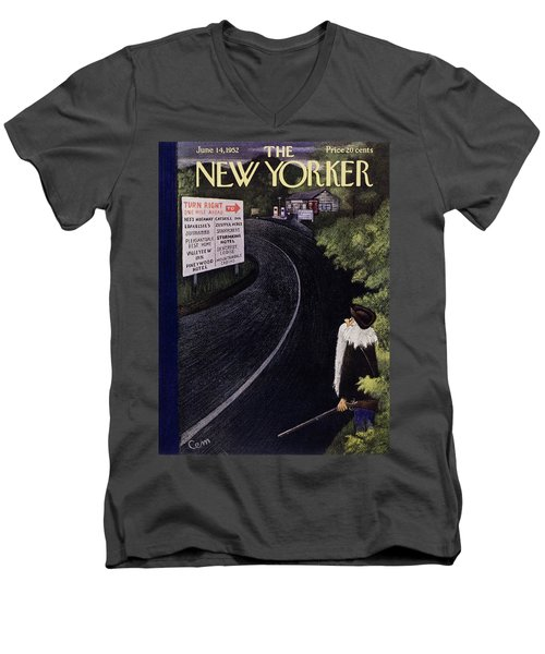 New Yorker June 14 1952 Men's V-Neck T-Shirt