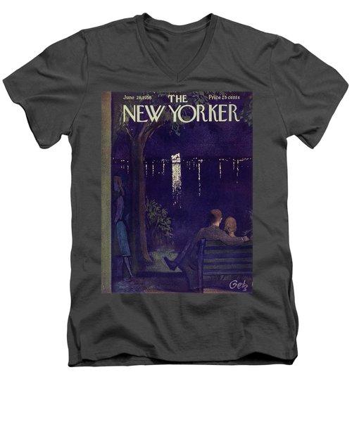New Yorker June 28 1958 Men's V-Neck T-Shirt