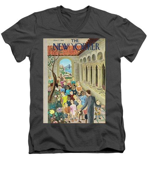 New Yorker June 7 1941 Men's V-Neck T-Shirt