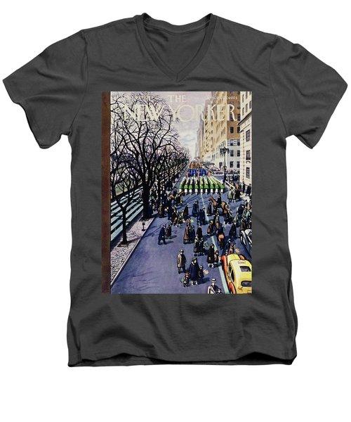 New Yorker March 14 1953 Men's V-Neck T-Shirt