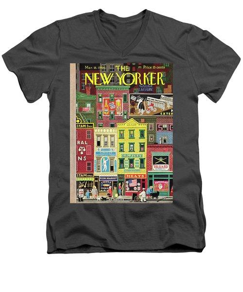 New Yorker March 18 1944 Men's V-Neck T-Shirt