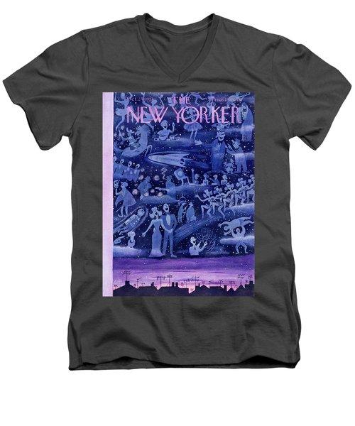 New Yorker October 24 1953 Men's V-Neck T-Shirt