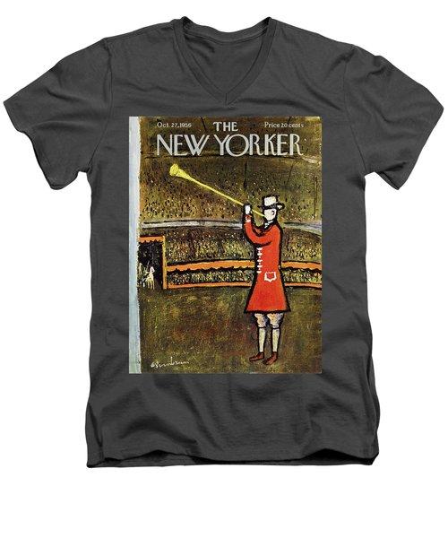 New Yorker October 27 1956 Men's V-Neck T-Shirt